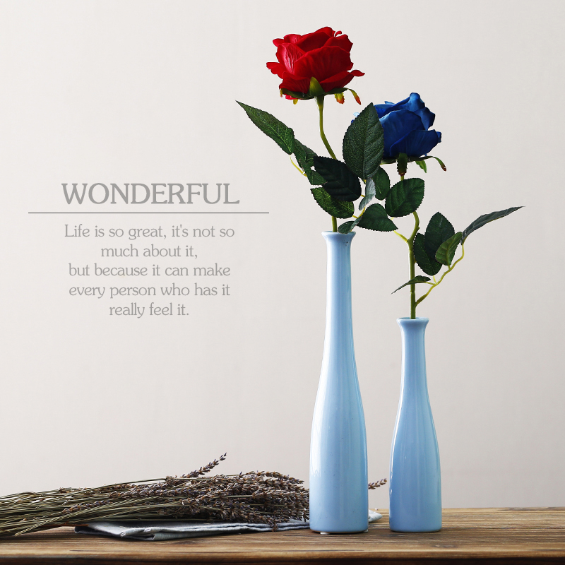 European style Ceramic Vase colorful simple vase decoration Handicraft office Porcelain Home Decor Furnishing Ornaments
