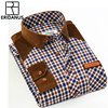 Spring Wnter 2016 New Mens Casual Plaid Shirts Long Sleeve Slim Fit Comfort Soft Flannel Cotton