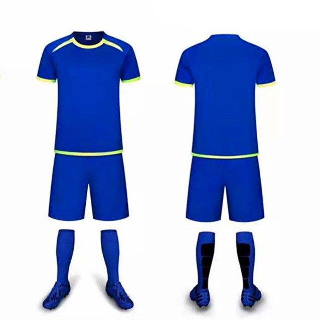 ddb5f789d57d6 Homens Camisas De Futebol Da Equipe personalizado Terno dos Esportes  Definir Número de Criar O Seu