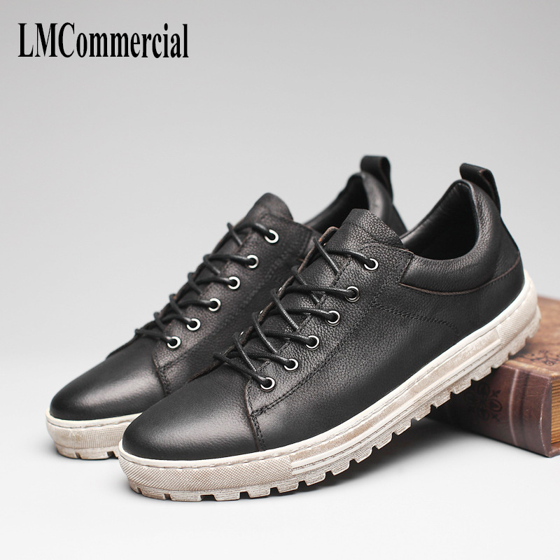 new men 's casual shoes men British leather All match cowhide breathable sneaker Leisure shoes men FlatsHigh Quality Genuine 2017 new spring imported leather men s shoes white eather shoes breathable sneaker fashion men casual shoes
