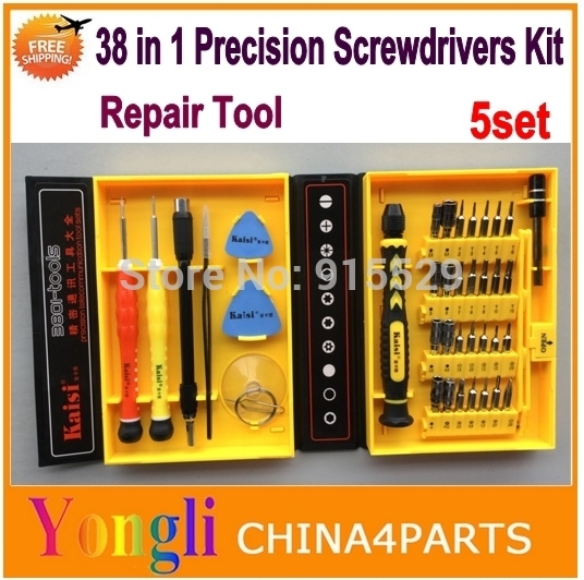 5set KAISI 38 in 1 Opening tool kits Precision Screwdrivers Kit For iPhone 4 4s 5 5s 6 6 plus iPad Samsung repairing