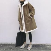 SuperAen Korean Style Warm Parkas Coat Women New Cotton Winter Women Clothing Wild Thick Parkas Coat Loose Fashion Wild Coats