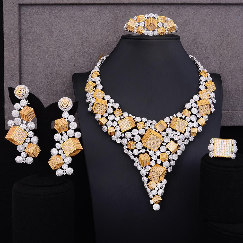 GODKI Luxus Magic Box 4 stücke Afrikanische Cubic Zirkon CZ Nigerian Schmuck sets Für Frauen Hochzeit Dubai Gold Braut Schmuck set 2019-in Schmucksets aus Schmuck und Accessoires bei  Gruppe 1