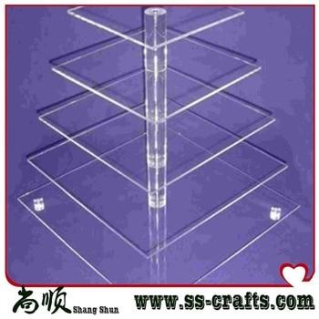 5 Tier Square Bracket Acrylic Wedding Cake Stand 4 Tier Acrylic Cupcake Stand 4 Tier Acrylic Cake Stand