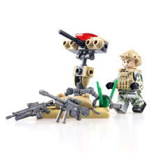 Military Morden War Air Commandos Vehicles Heavy Weapon Guns LegoING Soldiers Army Minifigured Building Blocks Sets Kids Toys