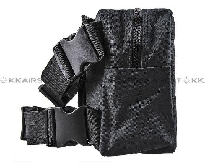 Молл военно-тактические талии мешок рюкзак падения нога Панель Утилита сумка [ph-04-cp песок камуфляж BK зеленый камуфляж] - Цвет: Черный