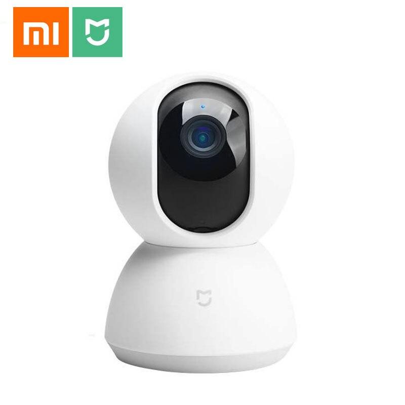 Güvenlik ve Koruma'ten Gözetim Kameraları'de Orijinal Xiaomi Mijia Akıllı WiFi Kamera IP kamera Webcam 1080 P 360 Açı Kızılötesi Gece Görüş MiHome APP Kontrol Için Ev güvenlik title=