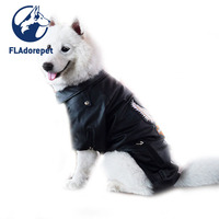Large Big Dog Pet Luxury Pu Leather Jacket Coats For Dog Autumn Winter Eagle Golden Retriever