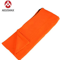 AEGISMAX Outdoor Ultralight Camping Hiking Envelope Type portable Fleece Summer Sleeping Bag Travel Liner