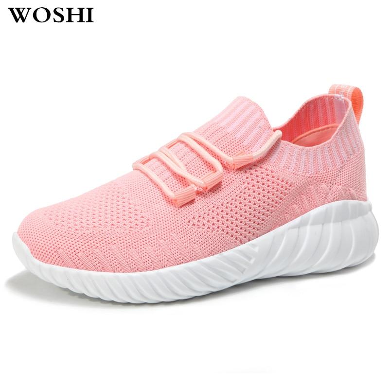 Для женщин кроссовки Для женщин дышащие кроссовки с сеткой Для женщин слипоны спортивные носки спортивные обувь Для женщин k5