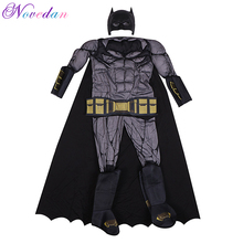 Boy Cosplay Costume Jumpsuits Dark Knight Anime Muscle-Superhero Halloween Party Justice