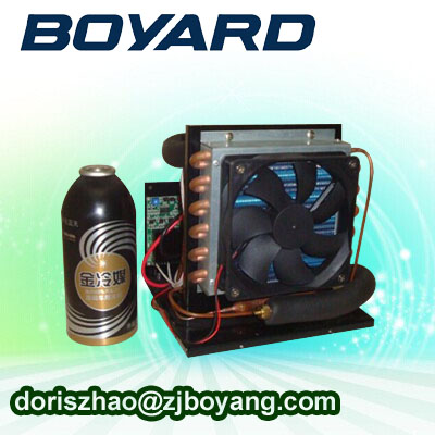R134a 12v compact compressor system for water cooling the compressor r134a qd65h 155w