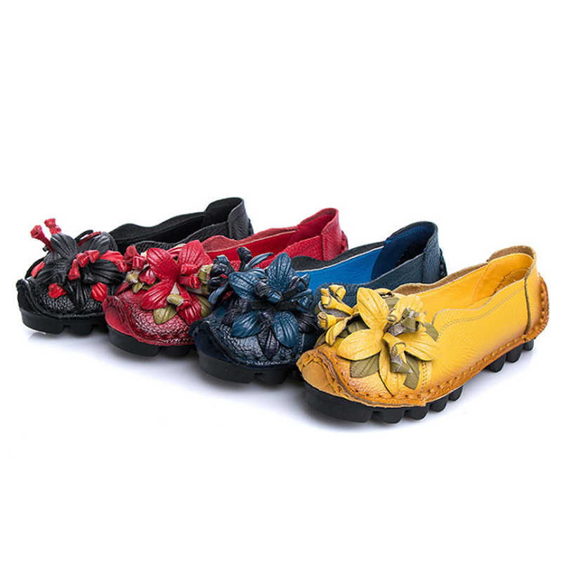 HENGSONG/Женская обувь на плоской подошве ручной работы; мокасины из натуральной кожи для женщин; летние лоферы; обувь на плоской подошве; кожаные туфли без застежки на платформе