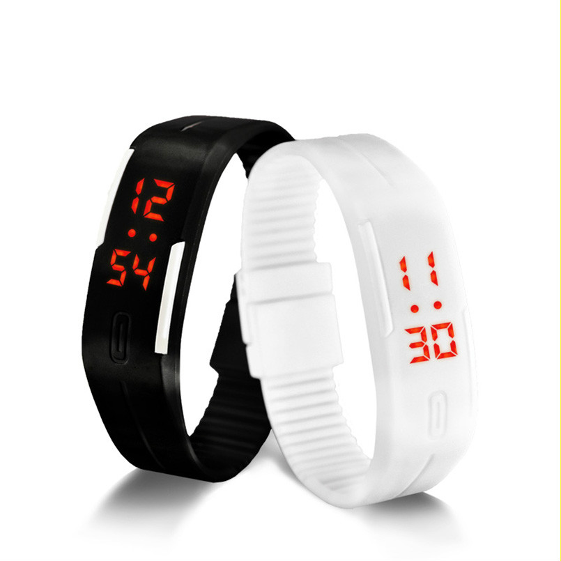 2016 Candy Color male Famale Wristwatch Silicone LED kids font b Watches b font Date Bracelet
