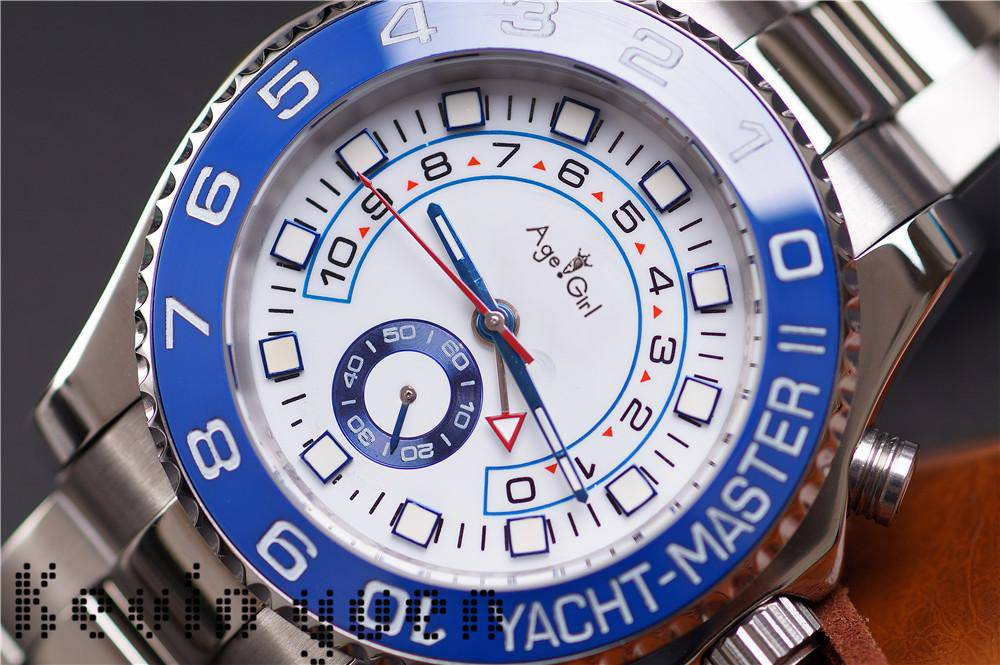 Luxury Watches Men Automatic Mechanical Blue Ceramic Bezel Stainless Steel GMT Watch Sapphire Glass YACHT Wristwatch 44mm AAA+