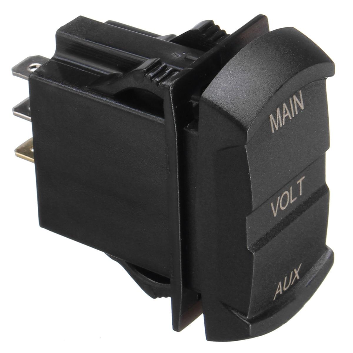 10 60v Led Dual Voltmeter Voltage Gauge Digital Panel Dashboard Schematic Diagram Of Rocker Switch Universal For 12v 24v Car Boat Marine Atv In Instruments From