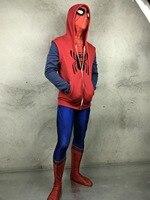 Spider Man Homecoming Hoodie Cosplay Costume Cotton Sweater Men S Hooded Peter Park SpiderMan Zipper Coat