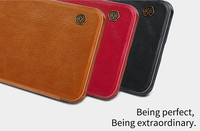 Brand NILLKIN QIN Hight Quality Lthr Flip Leather Case For Oneplus 5T Bumper Case For Oneplus
