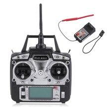 Flysky FS FS-T6 T6 Modo 2 6ch 2.4g com Tela de LCD com Transmissor FS R6B Receptor Para O Helicóptero DO RC