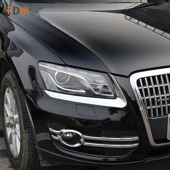 2 adet Krom Ön Far Kapağı Kaş Göz Kapağı Trim için Audi Q5 2010 2011 2012