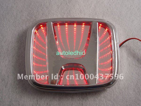 Car Reflective D LED Logo Badge Emblem Decal Sticker Lights For - Honda accord decals stickers