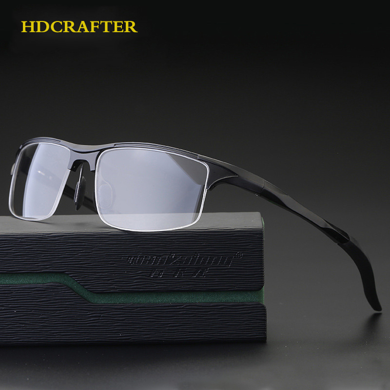 5532f84483 Detail Feedback Questions about HDCRAFTER Aluminun Alloy Glasses Frame Men  Prescription Optical Myopia Eyeglasses Frames Brand Designer Sunglasses  frame on ...