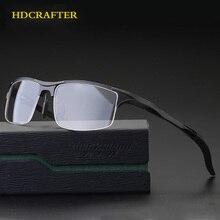 HDCRAFTER Aluminun Lega di Vetro del Telaio Uomini Prescrizione Miopia Ottica Occhiali Da Vista Cornici Progettista di Marca di occhiali da sole