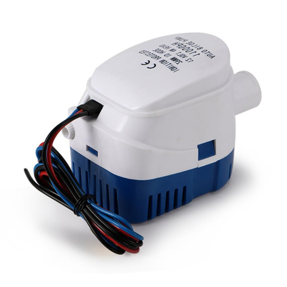 1pc 12/24V Plastic 600GPH/750GPH/1100GPH Automatic Marine Boat Bilge Built-in Float Switch Submersible Auto Water Pump