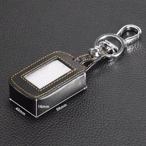 Image 2 - Jingyuqin 4 düğmeler uzaktan deri anahtar kapağı kılıfı anahtarlık Starline E60 E61 E62 E90 E91 2 yönlü araç Alarm sistemi uzaktan