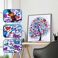 Diamond Embroidery Winter Flower Tree Special Shape Painting Rhinestone 5D DIY Crystal