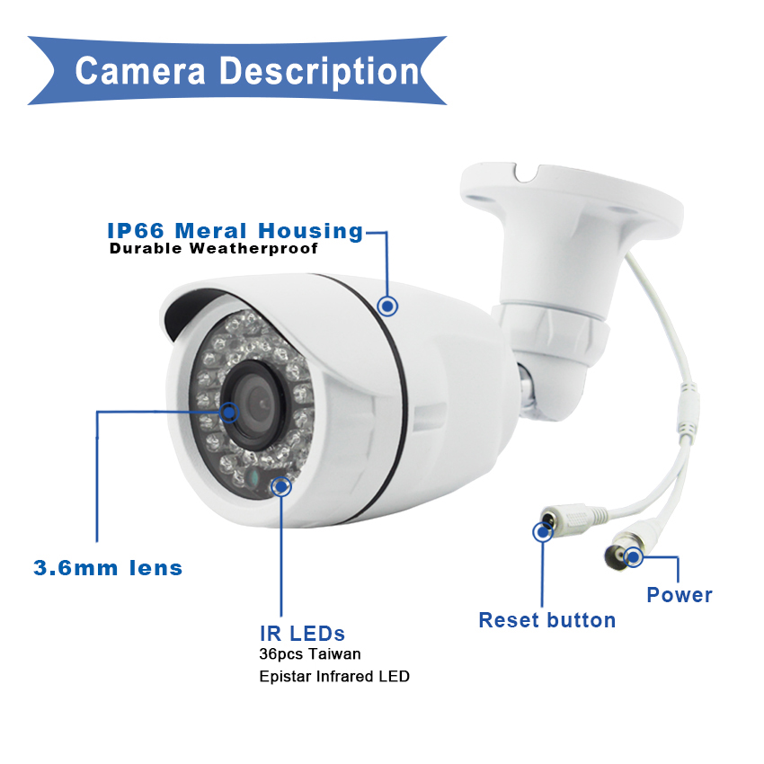 6-720P 960P 1080P 3MP 4MP AHD Camera 60-1B