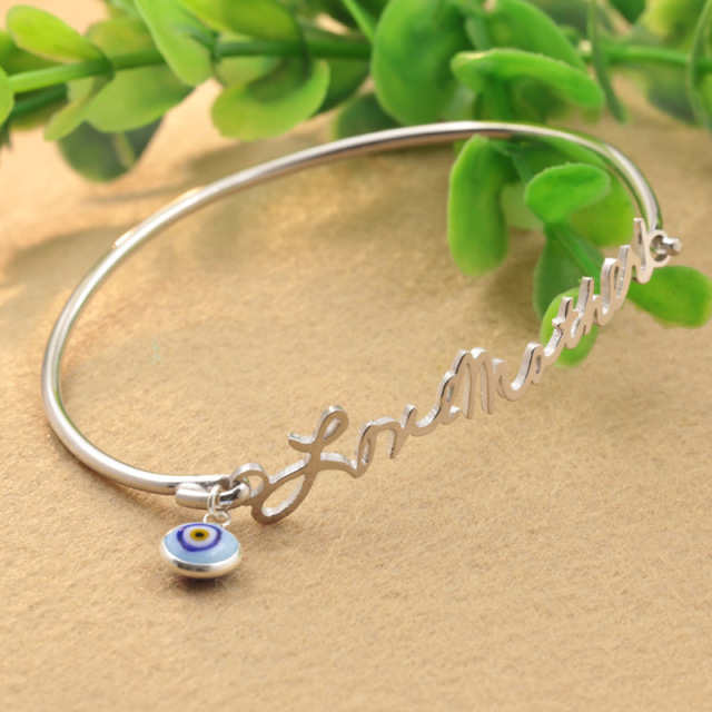silver for items etsy bracelet bracelets bangle personalized on photo popular bangles