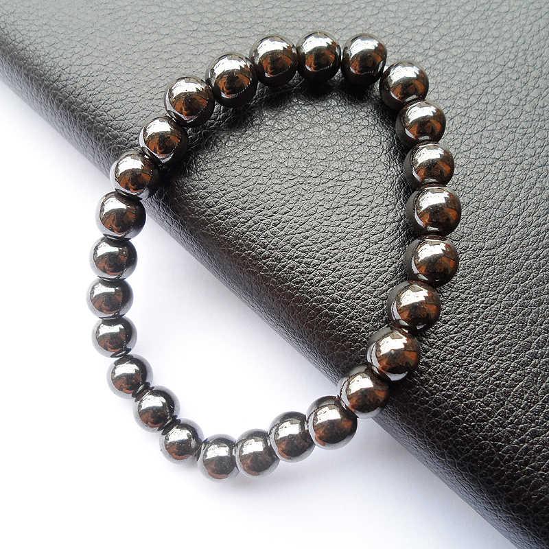 Оптовая продажа с фабрики Высокое качество Мужские и женские здоровья мм 8 мм черный Магнитный гематит голограмма браслет подарок ювелирны