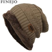 1 Pcs Hat Casual Beanies for Men Women Warm Knitted Fleece Winter Hat Fashion Solid Color