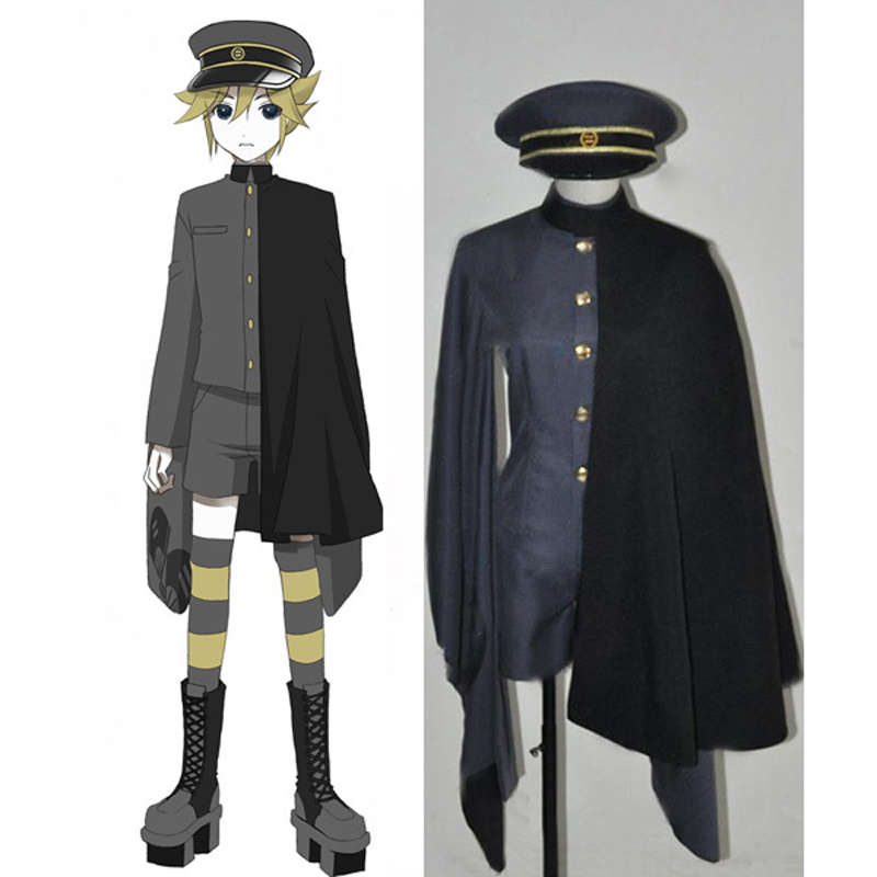 Vocaloid Kagamine Len Cosplay Uniform Suits Full Set Men's Halloween Costumes Custom-made Free Shipping