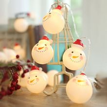 1.5-4.5M Holiday String Fairy Light AA Battery Operated 30 leds Snowman Garland Garden Home Weeding Christmas Deco PD033