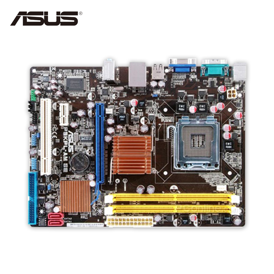 все цены на  Asus P5KPL-AM SE Desktop Motherboard G31 Socket LGA 775 DDR2 4G SATA2 USB2.0 uATX Second-hand High Quality  онлайн