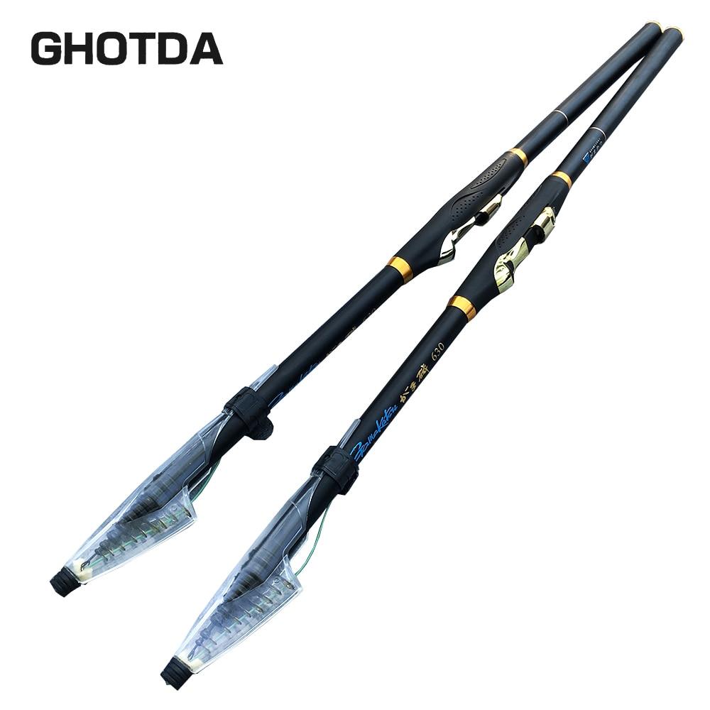 NEW GHOTDA 2.7M 3.6M 4.5M 5.4M 6.3M Spinning Fishing Rod M Power Telescopic Rock Fishing Rod Carp Feeder Rod Surf Spinning Rod