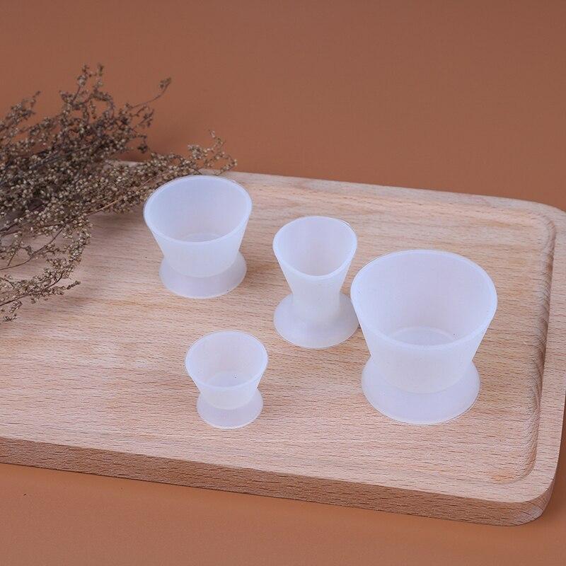 4 шт./компл. силиконовые миски для смешивания Стоматологическая лаборатория S/M/L Размер чашки для самостоятельного затвердевания Стоматолог...