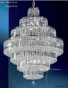 Image 3 - Lámpara de araña de cristal francés con diseño de Imperio Dorado, candelabros cromados, modernos, envío gratis