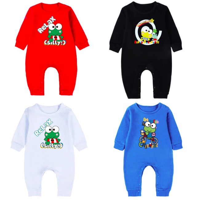 Cartoon Frog Spring Autumn 100% Cotton Animals Baby Boys Girls Babies  Infant Rompers Costume Jumpsuits Babe Clothing SA2118-in Rompers from Mother    Kids on ... a59125ce1