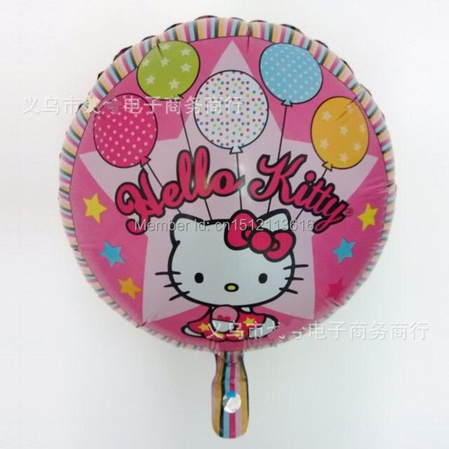 50pcs set cartoon ballon helium hello kitty cat birthday. Black Bedroom Furniture Sets. Home Design Ideas