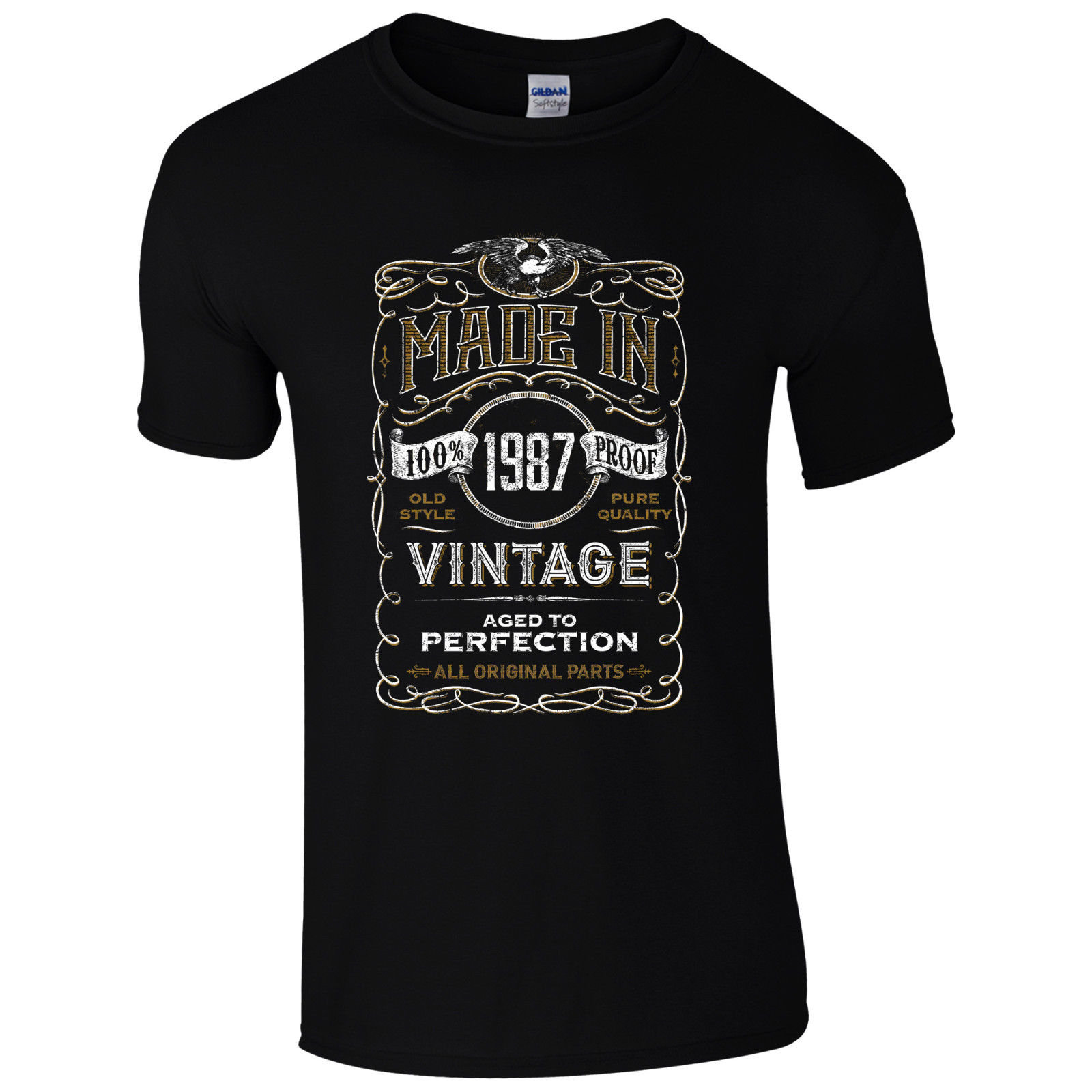 Made in 1987 T Shirt Born 31st Year Birthday Age Present Vintage Funny Mens Gift free shipping O Neck Sunlight Men T Shirt in T Shirts from Men 39 s Clothing