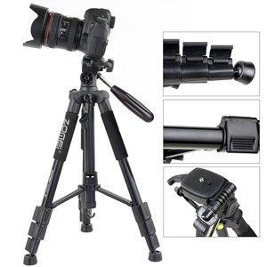 Image 2 - Professional travel Q111 portable aluminum tripod with digital camera SLR accessories tripod stand for digital SLR camera