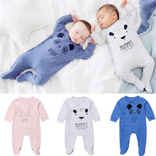 US $5.36 19% OFF|Cute I Love My Daddy Mommy Bear Newborn Baby Boy Girl Daddy Footies Bear Cotton Jumpsuit Father Mother Day Festival Outfits-in Footies from Mother & Kids on Aliexpress.com | Alibaba Group