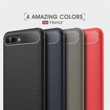 Honor 10 Cases Cover Shockproof Huawei Honor 8 9 Lite 8X 7X 6X 5C 8C Play Carbon Fiber Bumper TPU Silicone Protector Case Cover(China)