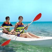 Portable Detachable Asymmetrical Aluminum Kayak Paddle Float Afloat Oar