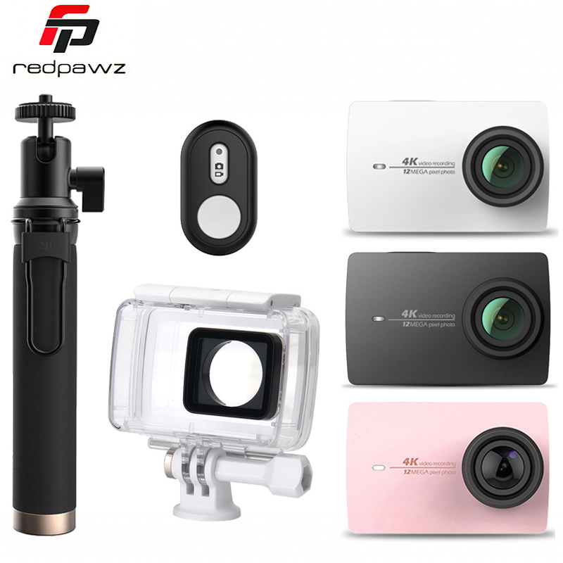 International Edition Original Xiaoyi YI 4K Action Camera 2 Ambarella A9SE Sports Camera II 2.19 155 12.0MP CMOS EIS LDC new original yi 4k action sport camera 4k xiaoyi 2 19 ambarella h2 for sony imx377 12mp 155 degree 4k ultra hd sports camera