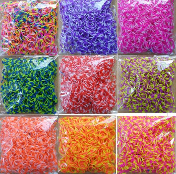 Loom Rubber Bands Bracelet Rainbow Rubber Loom Bands Make Woven Bracelet DIY Toys Christmas 2019 Gift  For Kids Or Hair