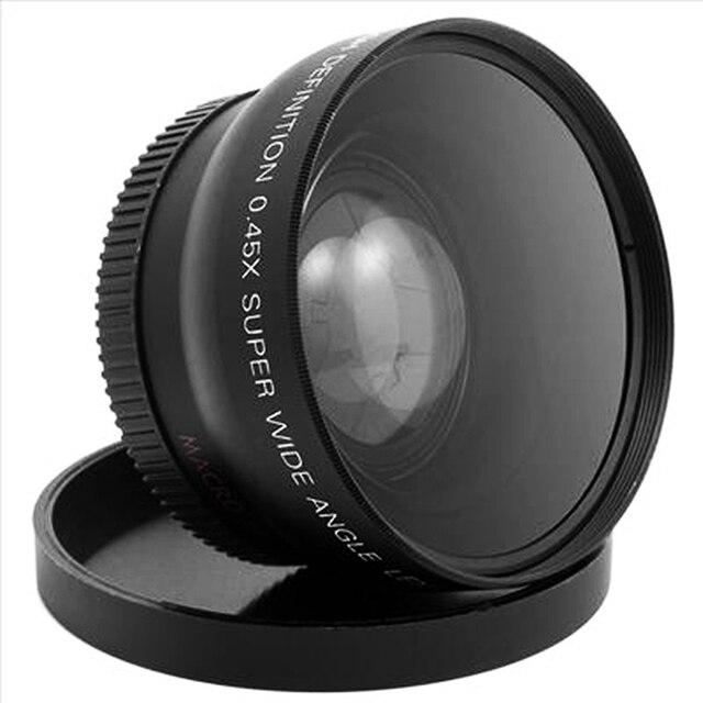 1 Bộ Chuyên Nghiệp 52 MM 0.45X Góc Rộng Ống Kính Macro cho Nikon D3200 D3100 D5200 D5100 Đen Góc Siêu Rộng